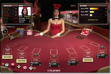 table de jeux live avec croupier